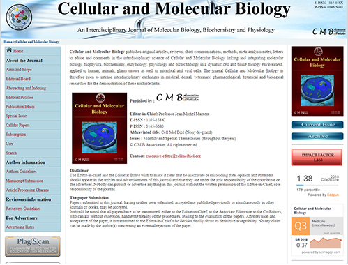 Cellular and Molecular Biology 이미지1